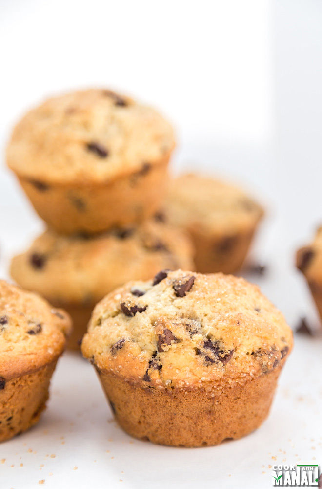 Bakery Style Chocolate Chip Muffins - Cook With Manali