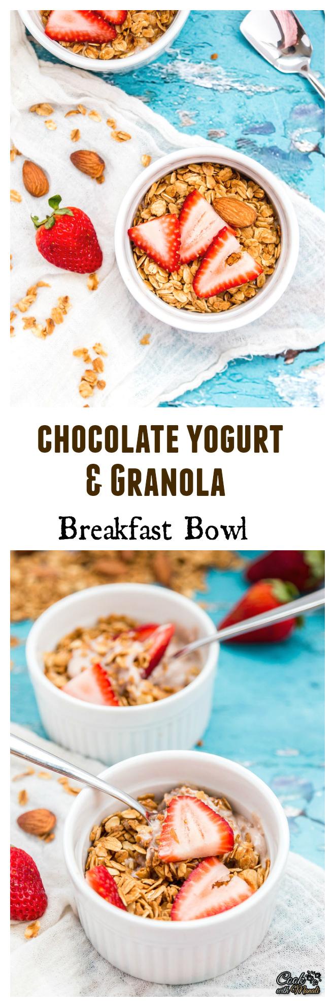 Chocolate Yogurt & Granola Breakfast Bowl Collage-nocwm