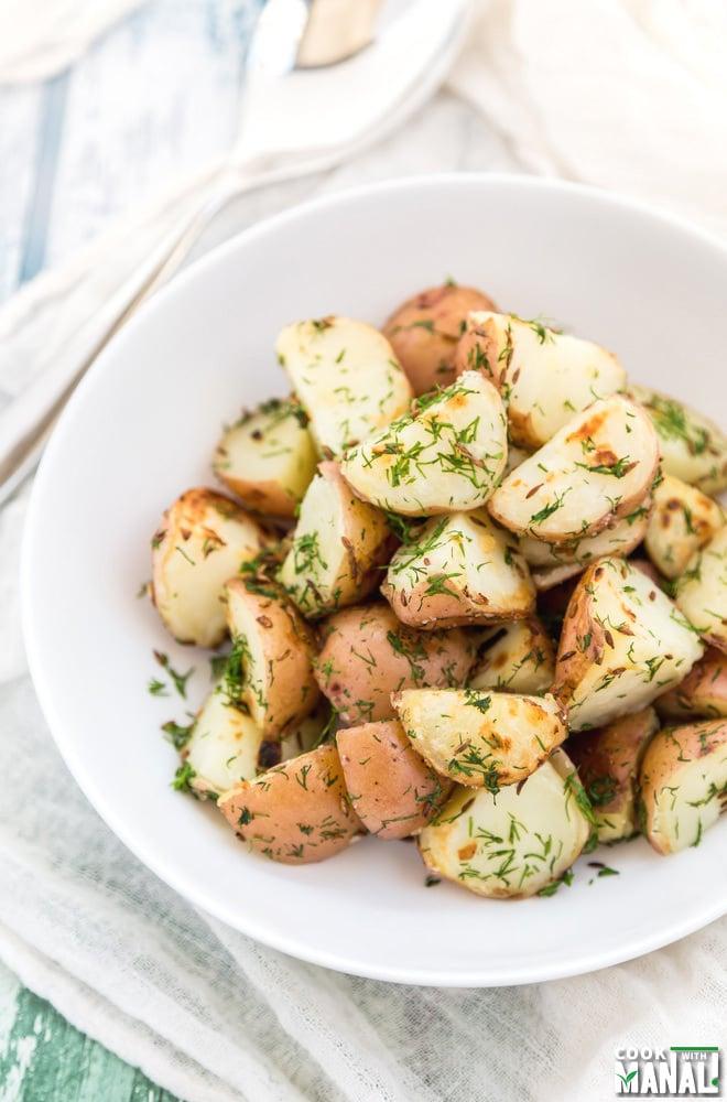 Red Potatoes With Dill Garlic Cumin Easy Side Dish Vegan