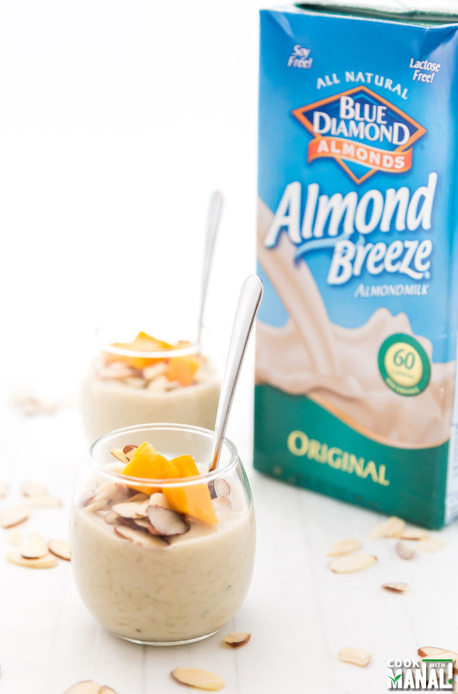 Almond Breeze Almond Milk Rice Pudding