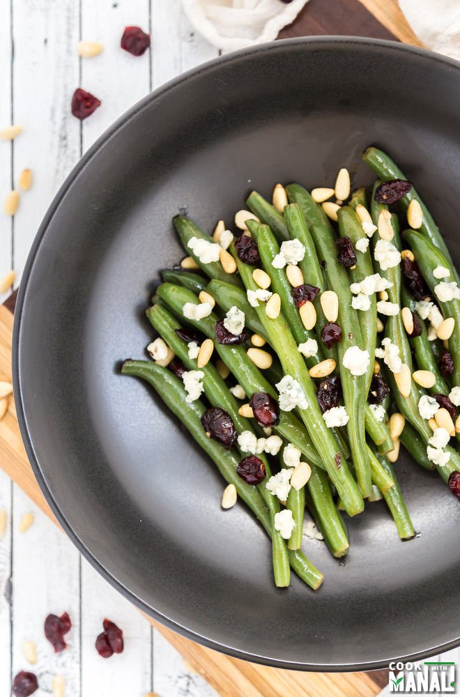 Brown Butter Green Beans with Blue Cheese