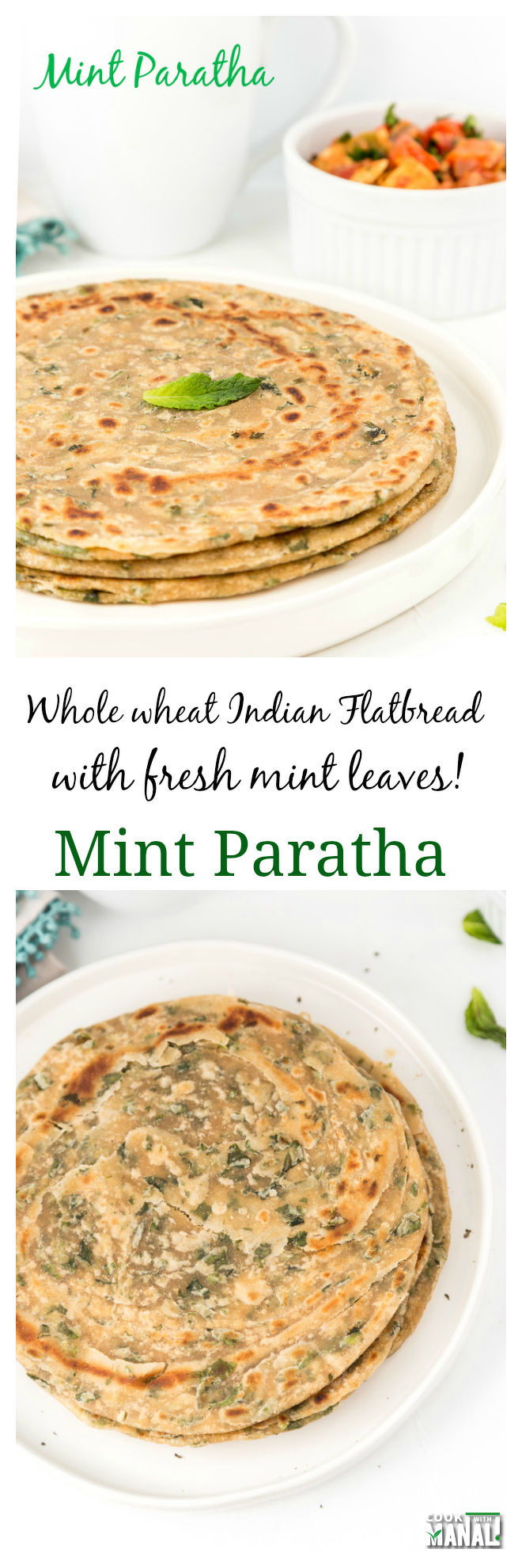 Mint Paratha - Cook With Manali