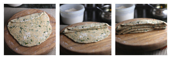 Mint Paratha Recipe-Step-3