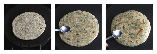 Mint Paratha Recipe-Step-6