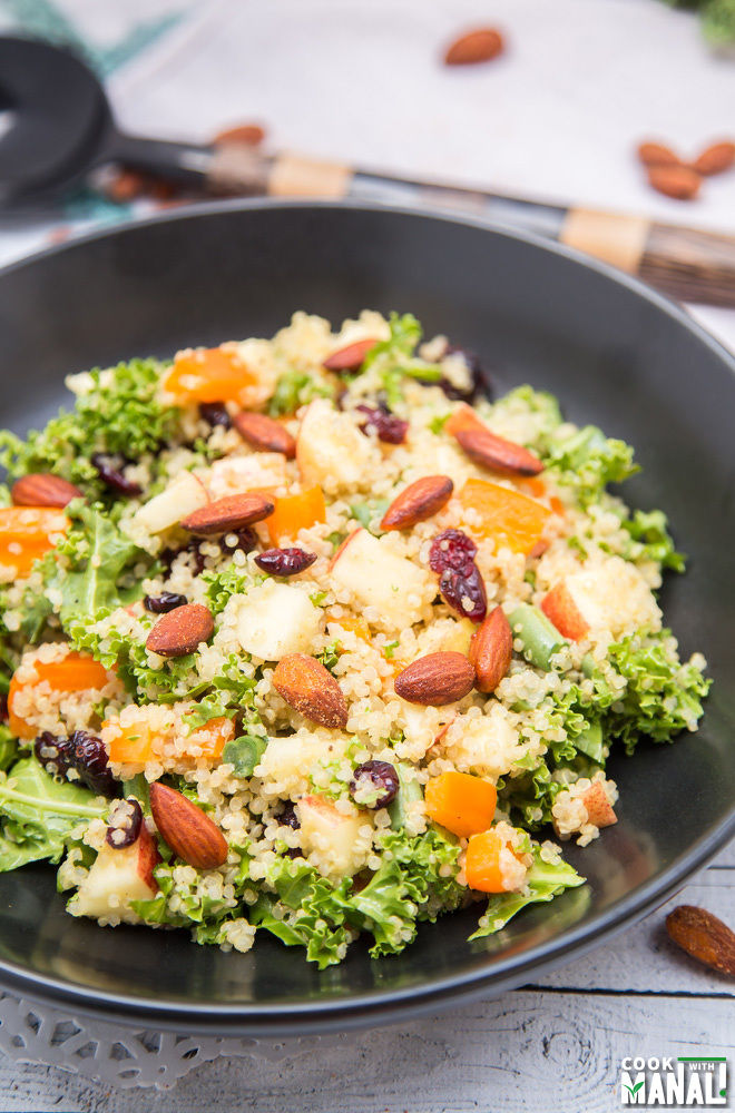 Quinoa Kale Salad with Almonds