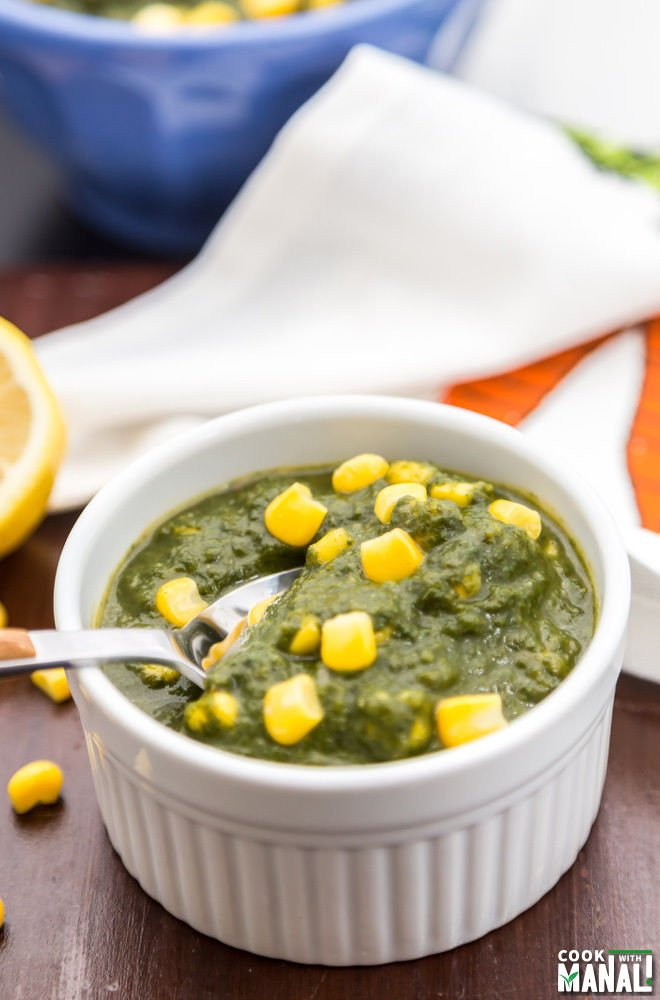 Spinach Corn Curry Indian