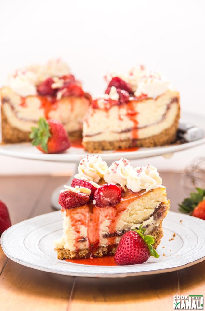Strawberry White Chocolate Cheesecake
