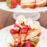 White Chocolate Strawberry Cheesecake