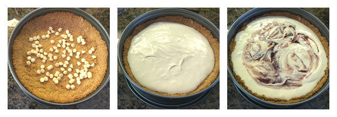 White Chocolate Strawberry Cheesecake Recipe-Step-3