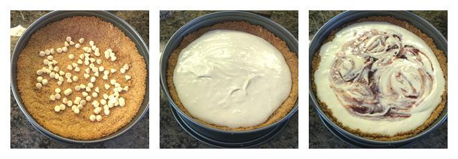 White Chocolate Strawberry Cheesecake Recipe-Step-3