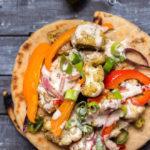 Cauliflower Pita Tacos with Tahini Sauce