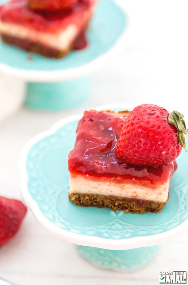 Double Berry Cheesecake Bars