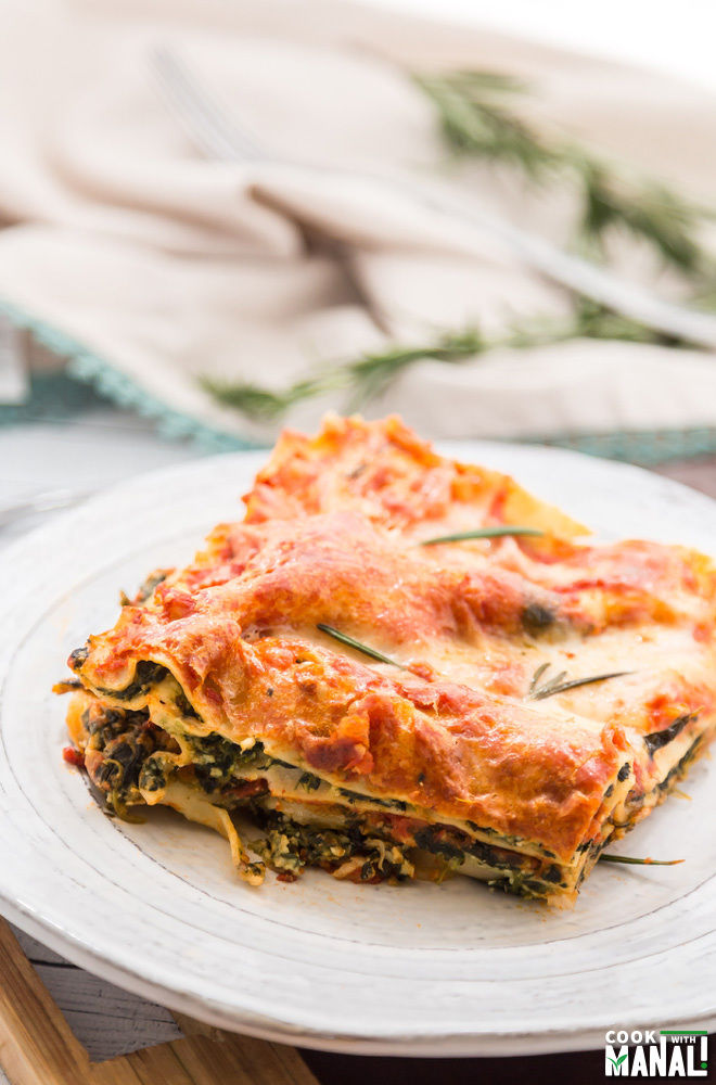 Easy Spinach Lasagna Recipe — Dishmaps