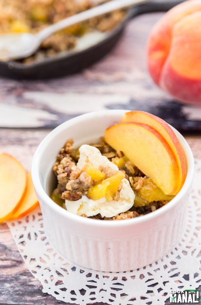 Peach Crisp In Skillet