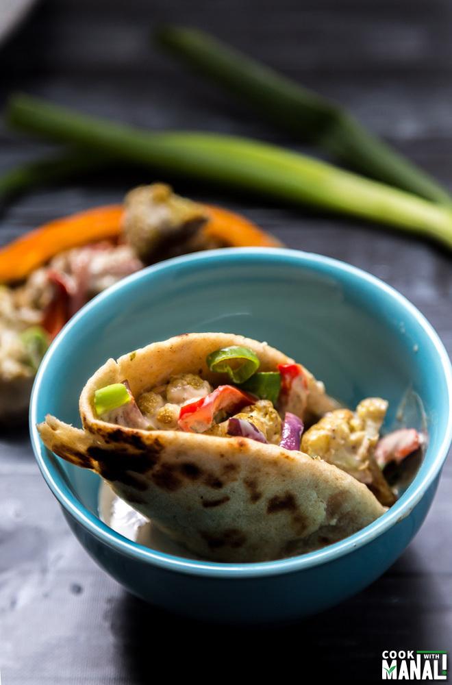 Pita Tacos with Tahini Sauce