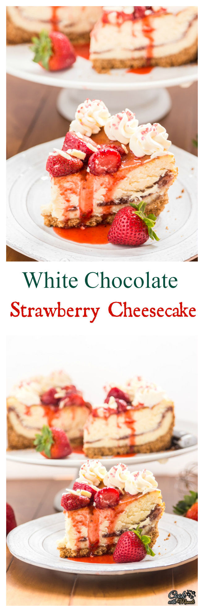 Strawberry And White Chocolate Mini Cheesecakes Recipe — Dishmaps