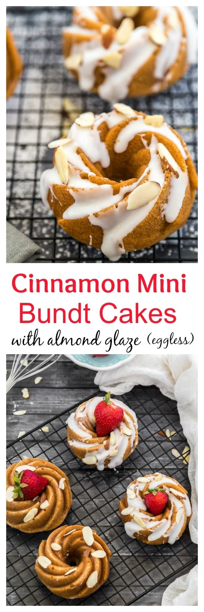Eggless Cinnamon Mini Bundt Cakes Collage-nocwm