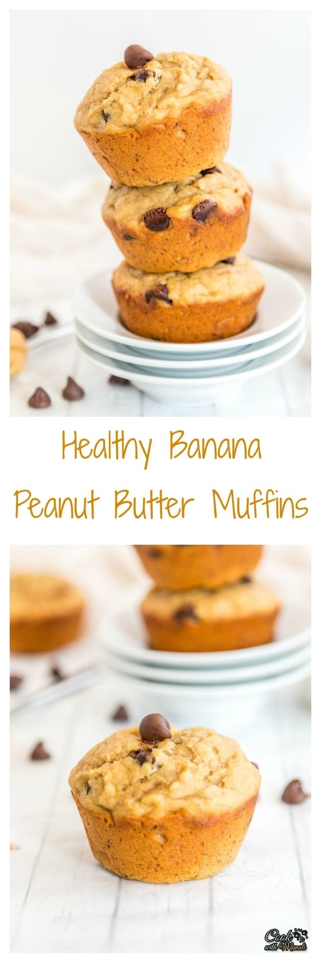 Healthy-Banana-Peanut-Butter-Muffins Collage-nocwm