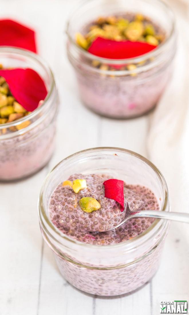Rose Pistachio Chia Pudding Recipe