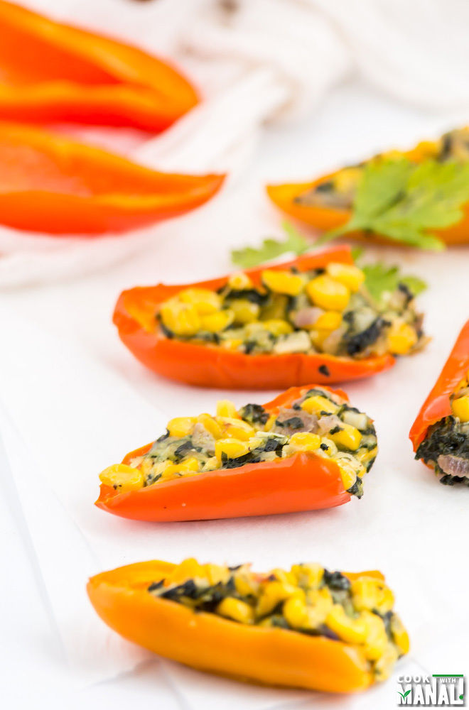 Stuffed Mini Peppers Vegetarian