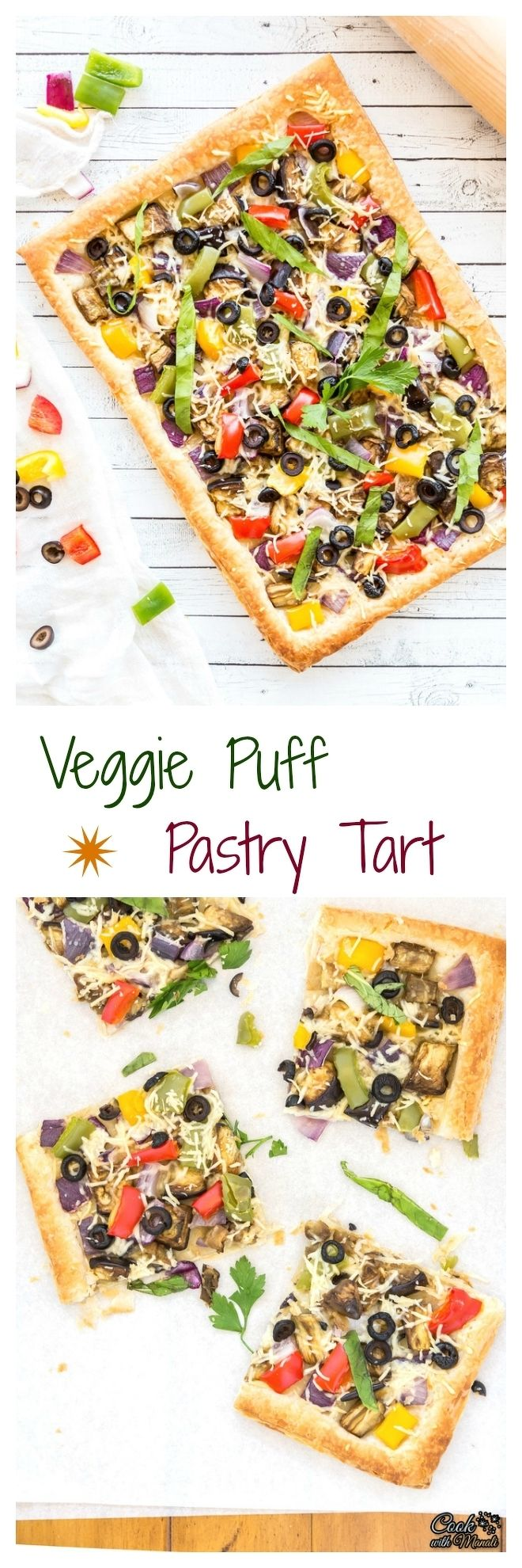 Vegetarian Puff Pastry Tart Collage-nocwm