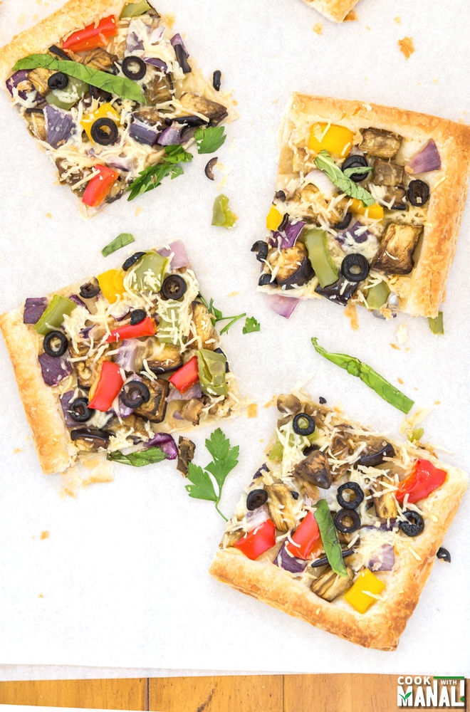 Vegetarian Puff Pastry Tart Recipe