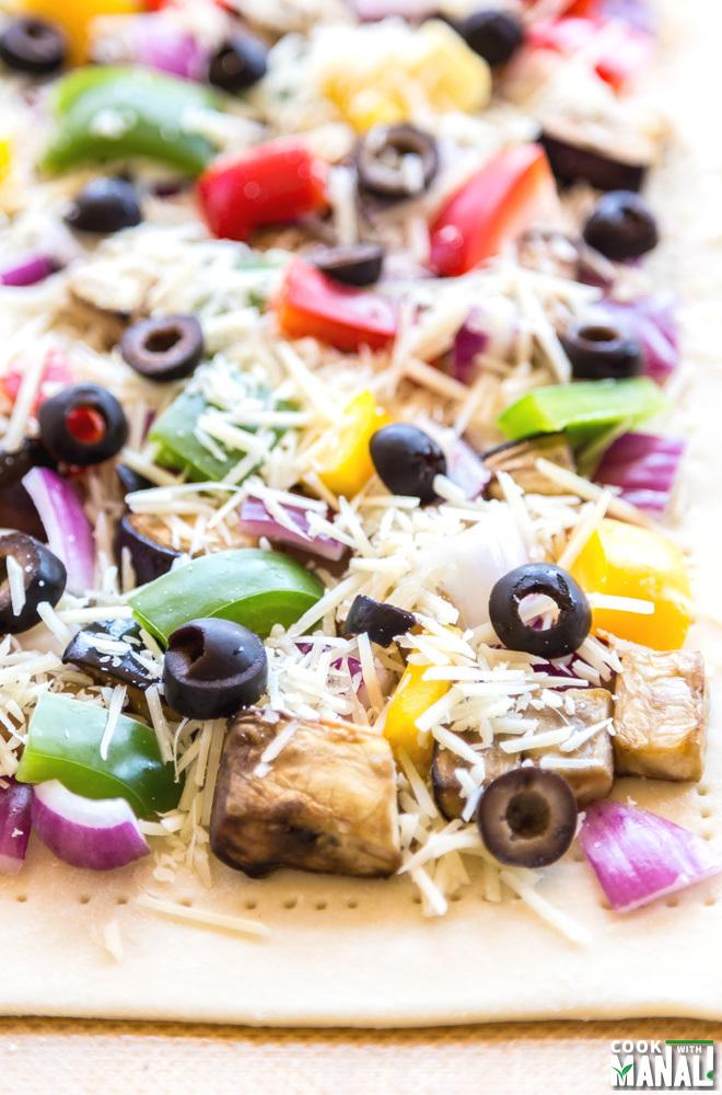 Vegetarian Tart Puff Pastry
