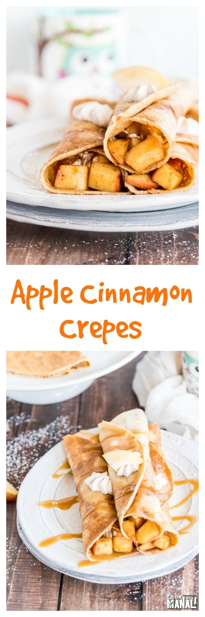 Apple Cinnamon Crepes Collage
