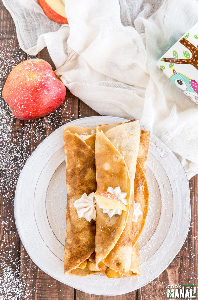 Apple Cinnamon Crepes Recipe