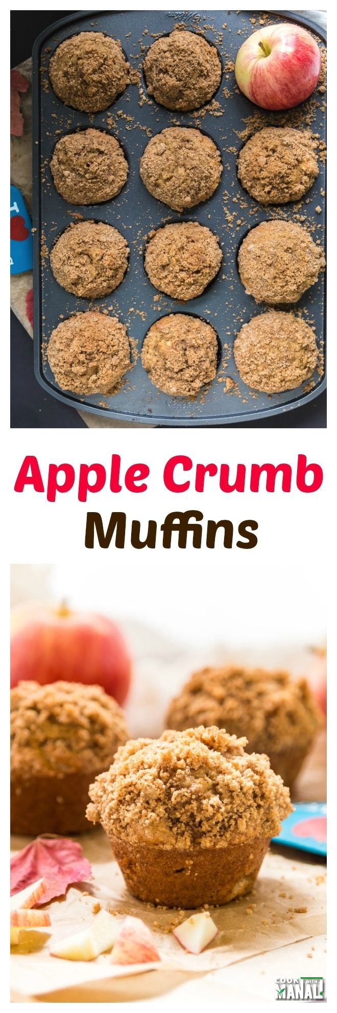 Apple Crumb Muffins Collage