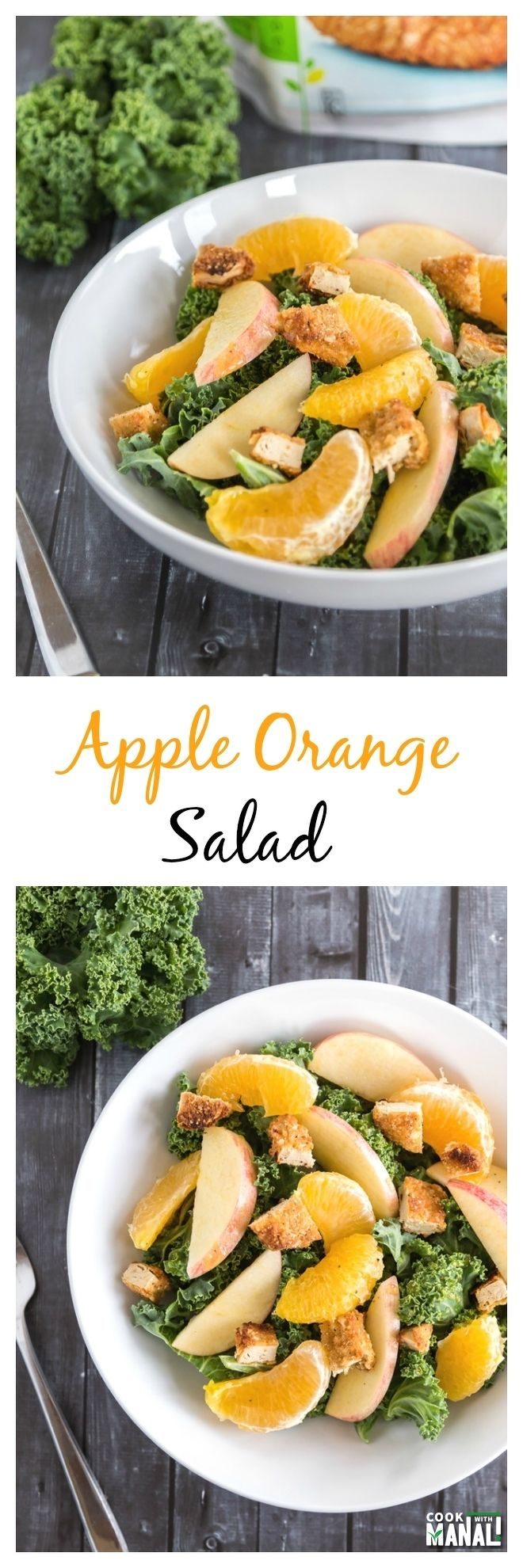 Apple Orange Salad collage