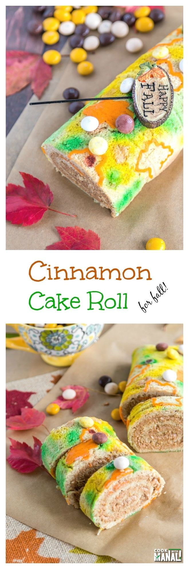 Cinnamon Cake Roll Collage
