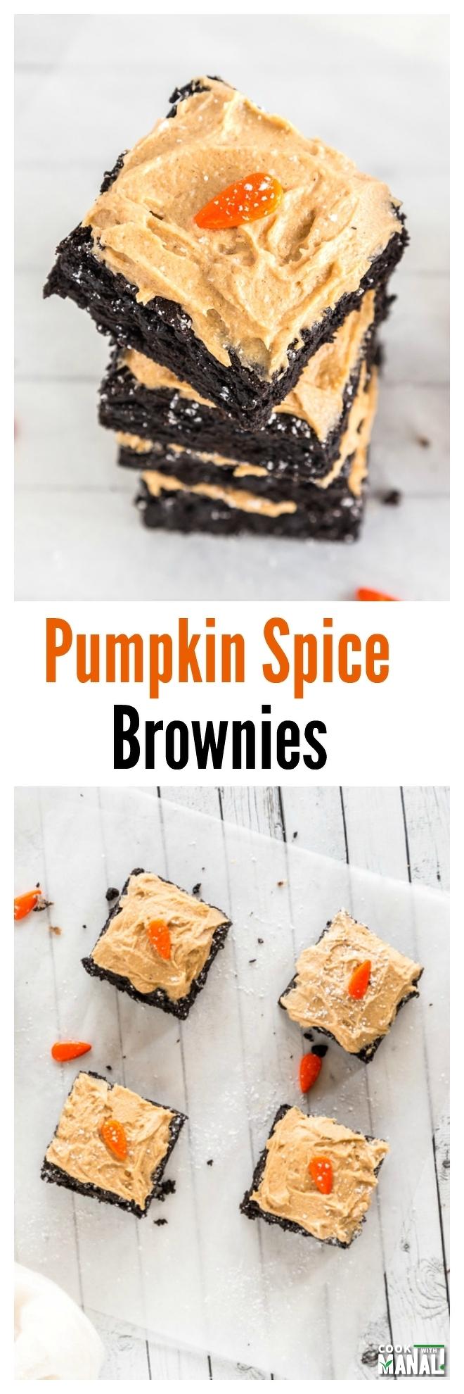 Pumpkin Spice Brownies Collage