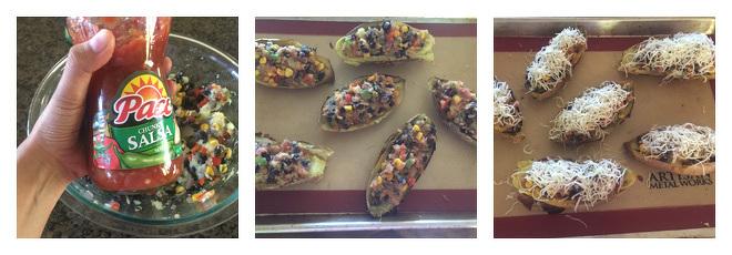 Vegetarian Sweet Potato Skins Recipe-Step-3