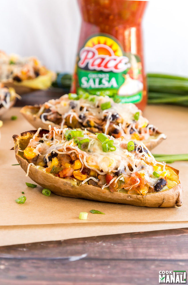 Vegetarian Sweet Potato Skins