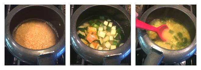 Zucchini Chana Dal Recipe Step-1