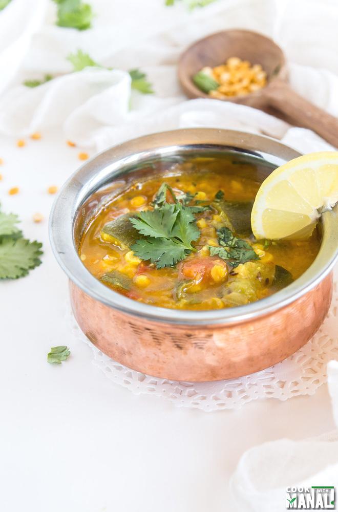 Zucchini with Chana Dal Recipe