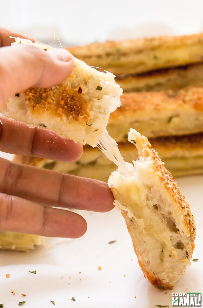 Cheesy Garlic Breadsticks Recipe