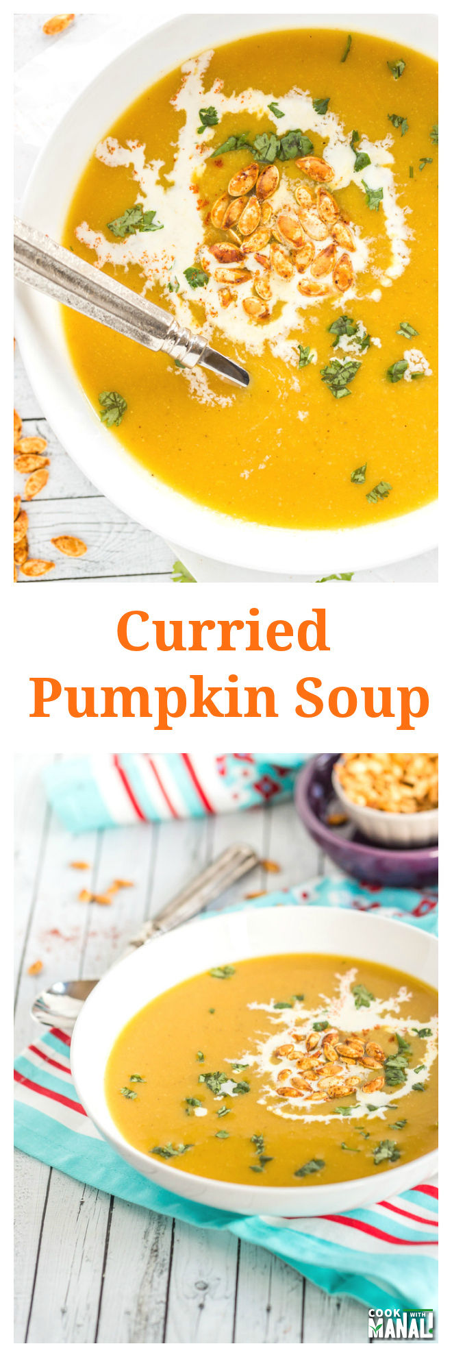 Curried Pumpkin Soup Collage