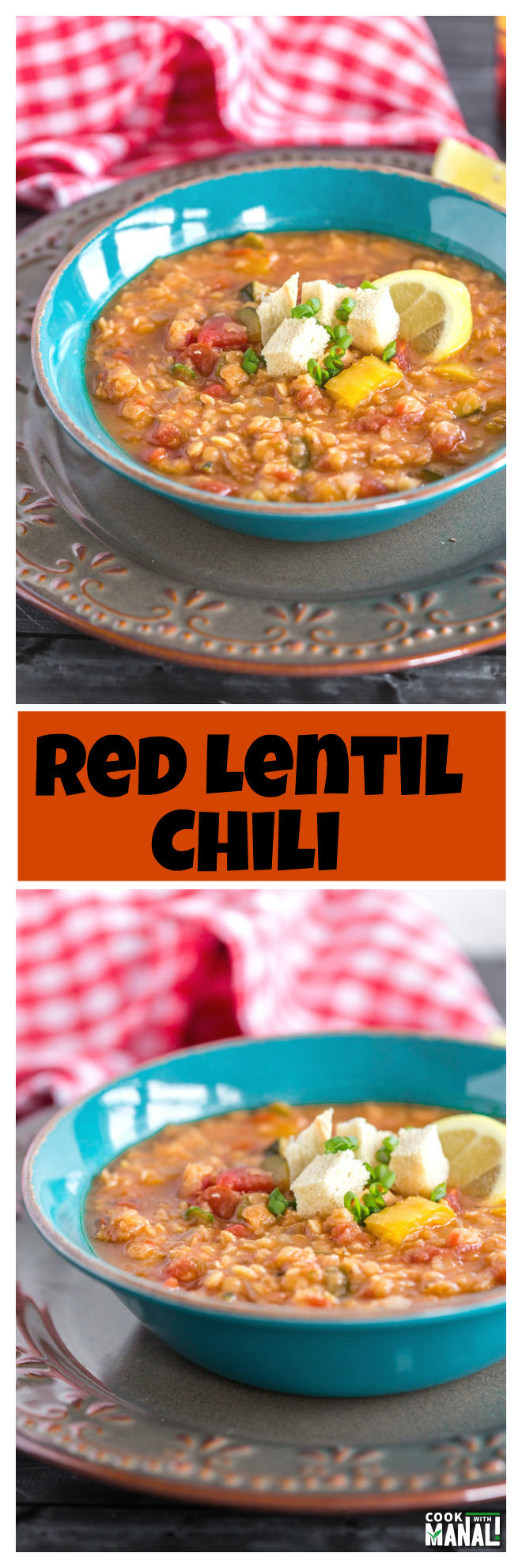 Lentil Chili Collage