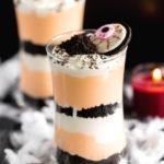 No Bake Oreo Cheesecake Parfait for Halloween