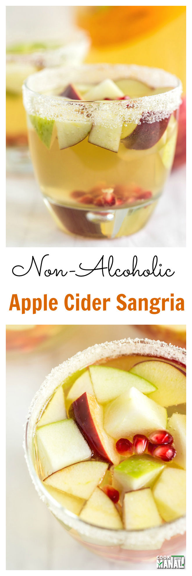 Non Alcoholic Apple Cider Sangria Collage