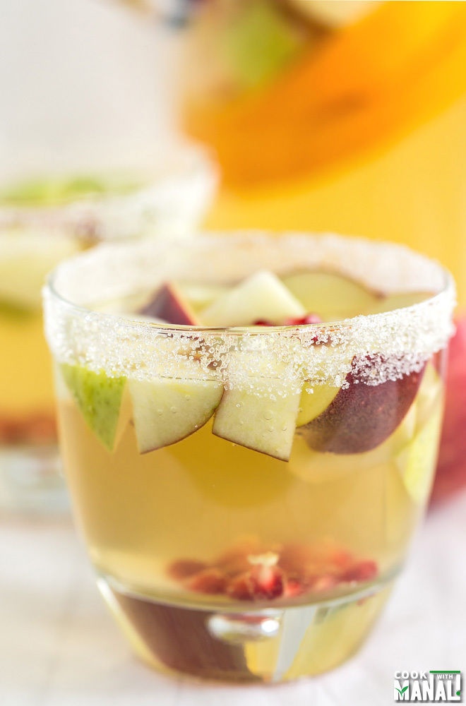 Non Alcoholic Apple Cider Sangria for Fall