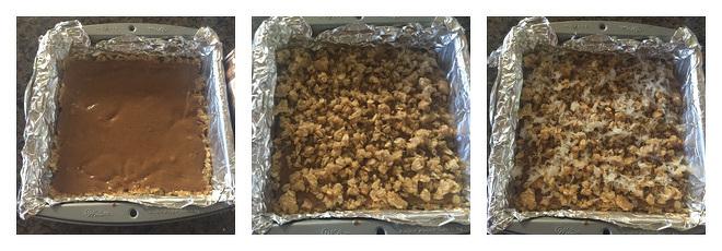 Peanut Butter Oatmeal Coconut Bars Recipe-Step-3