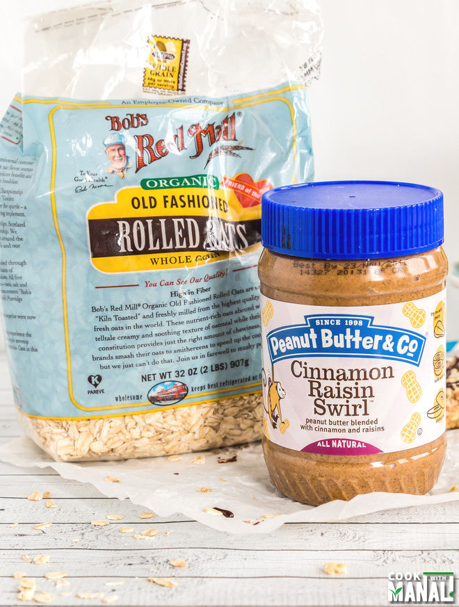 Peanut Butter and Bobs Red Mill Oats