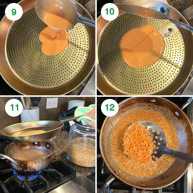 step by step picture collage of making motichoor ladoo at home
