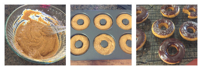 Pumpkin Donuts with Chocolate Ganache Recipe-Step-3