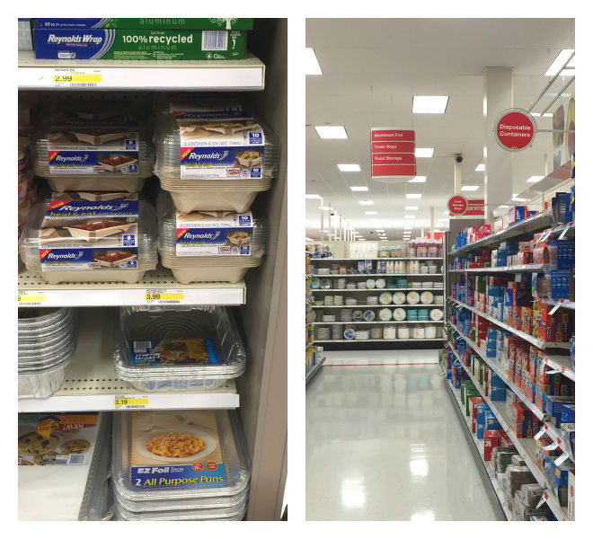 Reynolds heat & eat disposable containers at Target