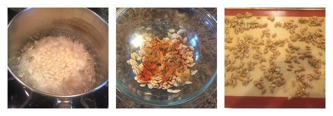 Spicy Roasted Pumpkin Seeds Recipe-Step