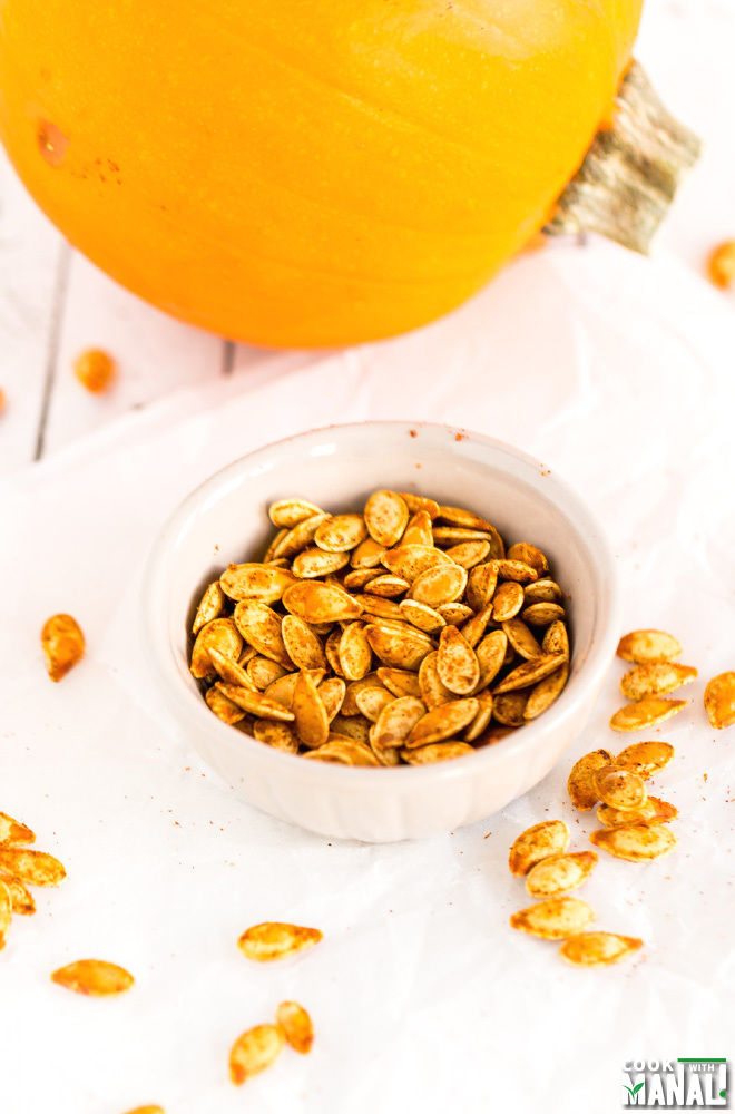 Spicy Roasted Pumpkin Seeds Recipe